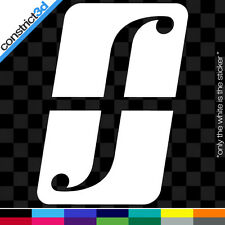 """(2x) FORUM 5"""" VINYL DECALS  * ANY COLOR     snowboard snow shred snowboarding dc"""