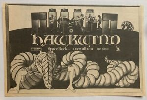 HAWKWIND vintage 1970 ADVERT DEBUT ALBUM Liberty SPACE ROCK