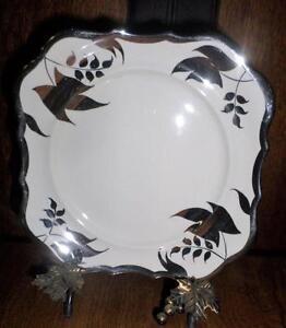 Vintage-Sandland-Ware-England-Lancaster-Hanley-Silver-Luster-Plate