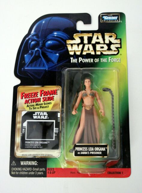 Kenner 1997 Star Wars POTF: (Princess Leia as Jabbas Prisoner)w/Green Back (NIB)