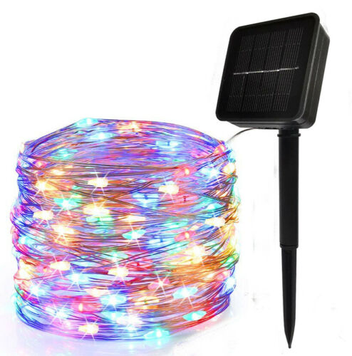 20M Solar energy copper wire lamp string 8 Light Modes Christmas Party Wedding
