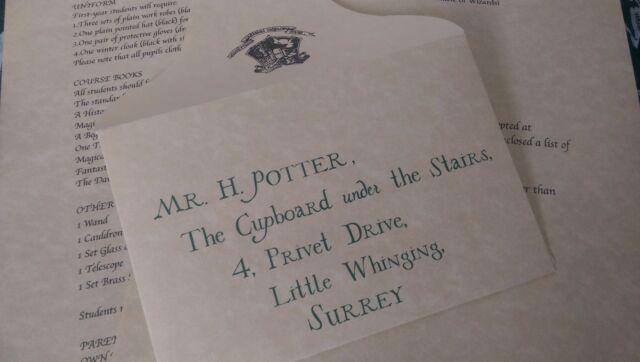 Harry Potter Personalised Acceptance Letter Official Warner Bros ... 36dde011988d