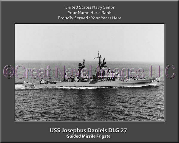USS Josephus Daniels DLG 27 Personalized Canvas Ship Photo 2 Print Navy Veteran