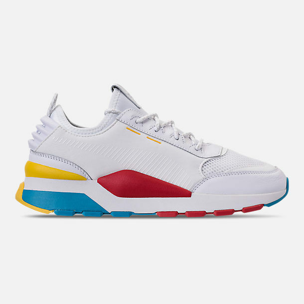 MENS PUMA RS-0 PLAY WHITE /HIGH RISK RED CASUAL SHOES MEN'S SELECT YOUR SIZE