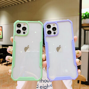 Case For iPhone 12 11 Pro Max XS XR 8 7 6+ Clear Hybrid Shockproof Bumper Cover