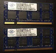 Nanya 2GB Kit (1GBx2) PC2-5300S DDR2-667 SO-DIMM Laptop RAM Memory