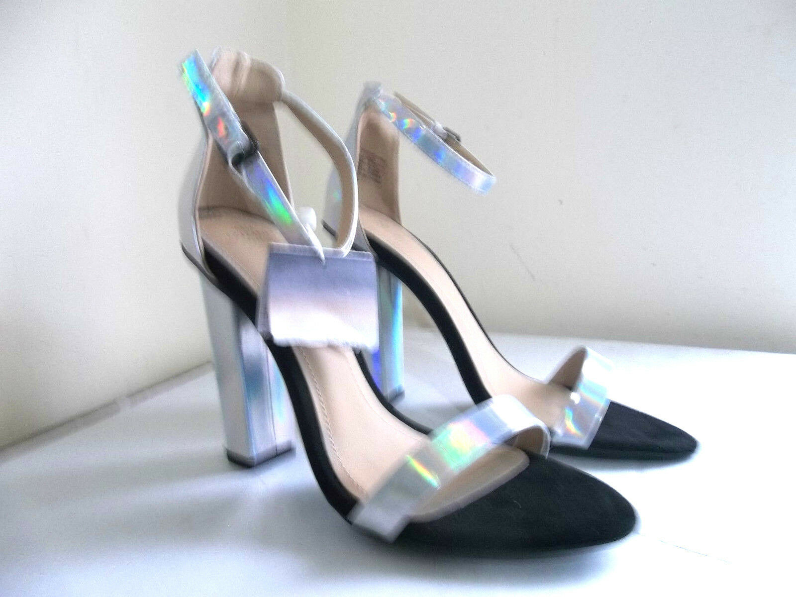 NEW ZARA BLOGGERS FAVE UK3 SHINY BLOCK HEEL SANDALS UK3 FAVE /EUR36 77b1b3