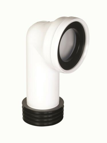 HUNTER S221 WHITE 110MM 90 DEGREE WC TOILET CONNECTOR ALL PURPOSE TAIL