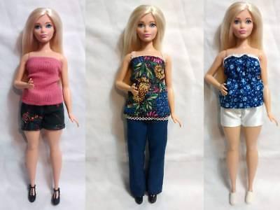 #2 CLOTHES High Quality Handmade 5 Piece Wardrobe Lot for Mattel CURVY BARBIE