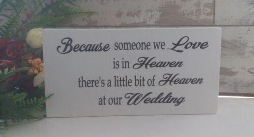 Mariage à la mémoire de quelqu /'un dans le ciel souvenir signe en bois autoportante