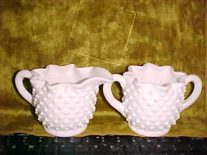 Fenton-Hobnail-White-Milk-Glass-Sugar-and-Creamer-with-Star-Shaped-Top-7-22
