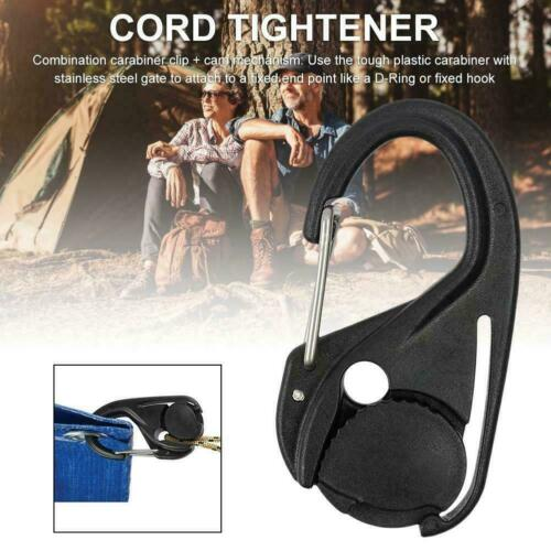 2PCS Camping Tent Cord Rope Fastener Guy Line Runner Wind Stopper Tightener H2E8