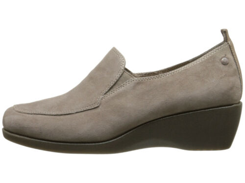 Women Hush Puppies Vanna Cleary Taupe Gray Wedge Loafers Arch HWR5339-252 $89