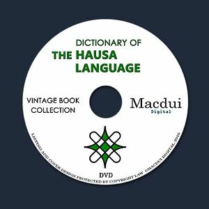 Details about Dictionary of the Hausa language – 2 Vintage e-Books  Collection on 1 DATA DVD