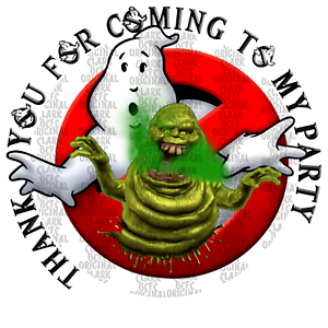 70 x Personalised Ghostbusters Halloween sticker party favours cone labels