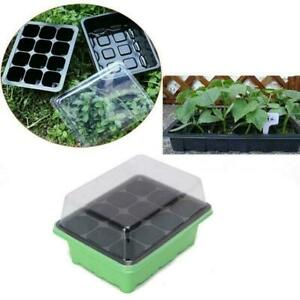 12-Cell-Hole-Seedling-Starter-Tray-Nursery-Seed-Germination-Plants-U0B0