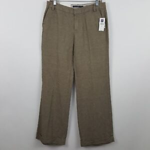 NWT-NEW-Gap-Wide-Leg-Tan-Nude-Brown-Women-039-s-Career-Dress-Pants-Sz-4R-30-x-33