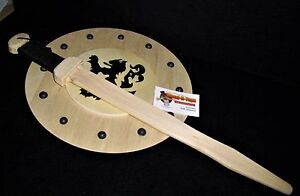 Roman-type-wooden-sword-and-shield-Toy-LARP