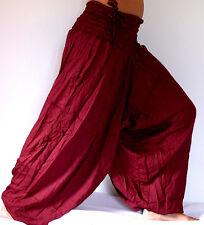 Sarouel Femme ROUGE BORDEAUX Pantalon Ethnique Aladin Harem RED aladdin