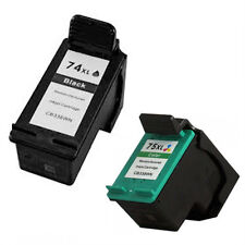 Remanufactured Ink Cartridges for HP 74XL CB336W Black + HP 75XL CB338W Color