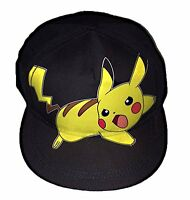 Pokemon Pikachu Boys Youth Flat Bill Baseball Hat