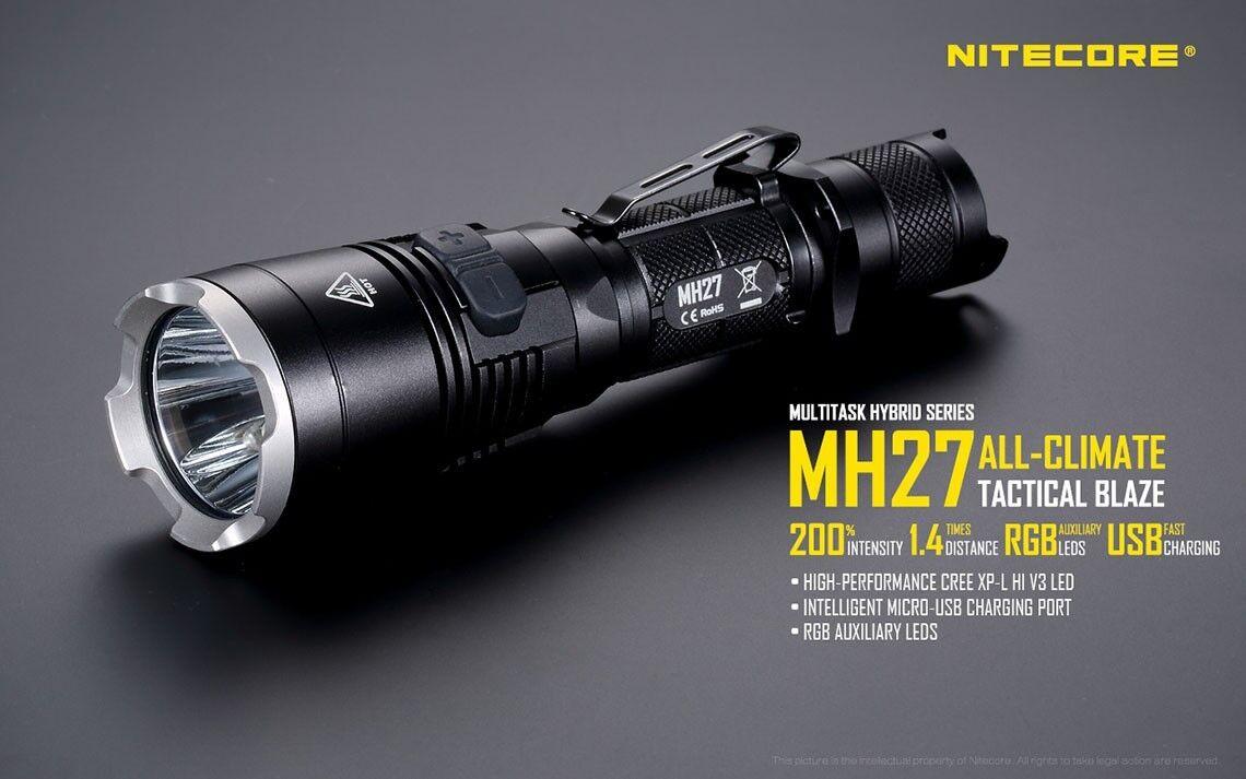 Nitecore multitâches hybride mh27 avec xp-L Hi v3 LED chargeable