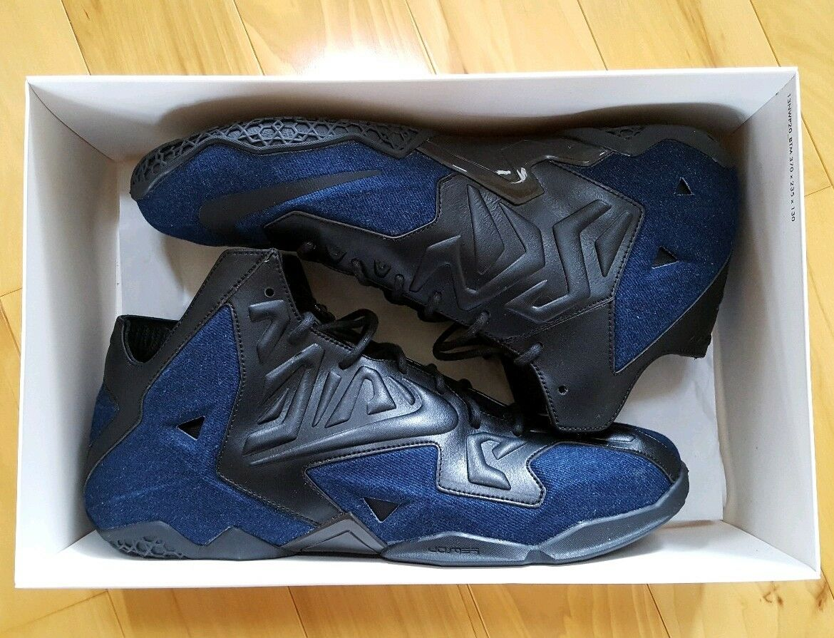 Lebron 11 XI Denim QS - Mens Size 13 - DS, Brand New