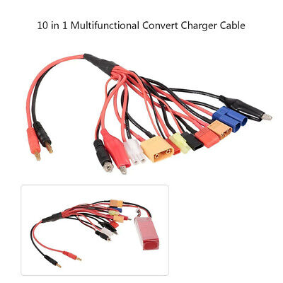 Lipo Battery Charging Plug Convert Cable Wire for RC Airplanes Car 8//10 in 1