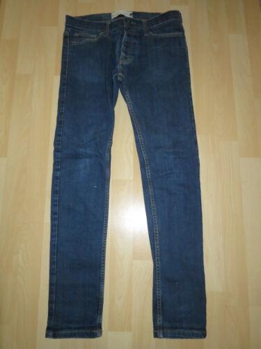 stretti blu W32 skinny di Jeans taglia uomo Moto da chiaro 5qpyxO6