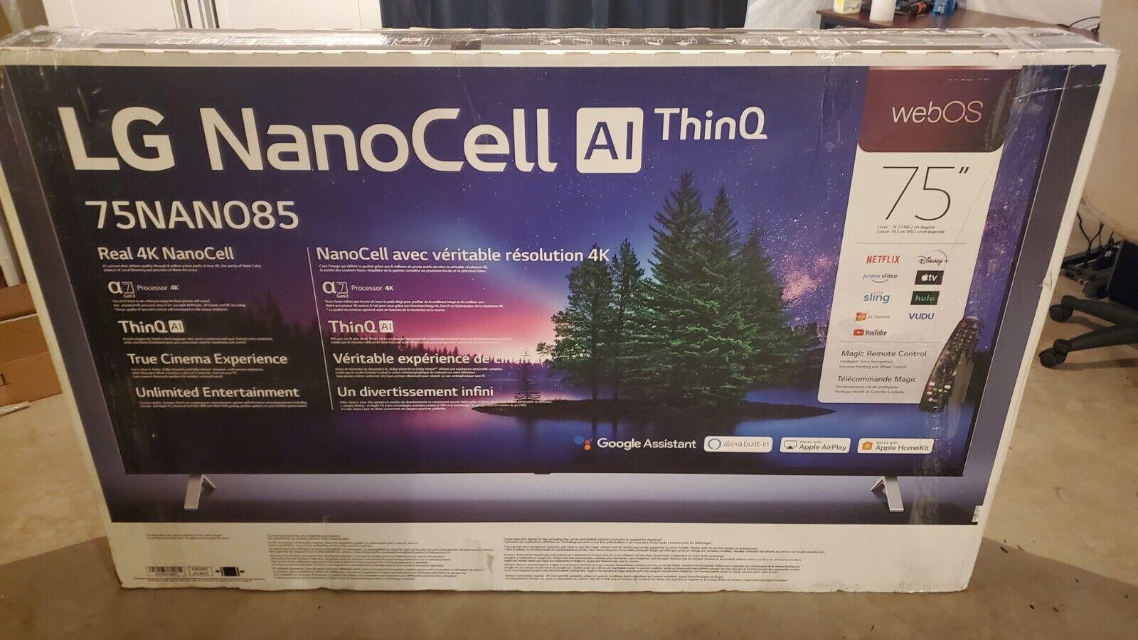 LG 75 NanoCell 85 Series 4K UHD HDR Smart TV - 2020 Model *75NANO85. Available Now for 1100.00