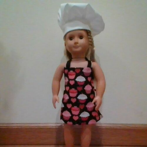 NEW GENERATION DOLL CLOTHES CUPCAKES APRON CHEF HAT FITS 18IN DOLLS