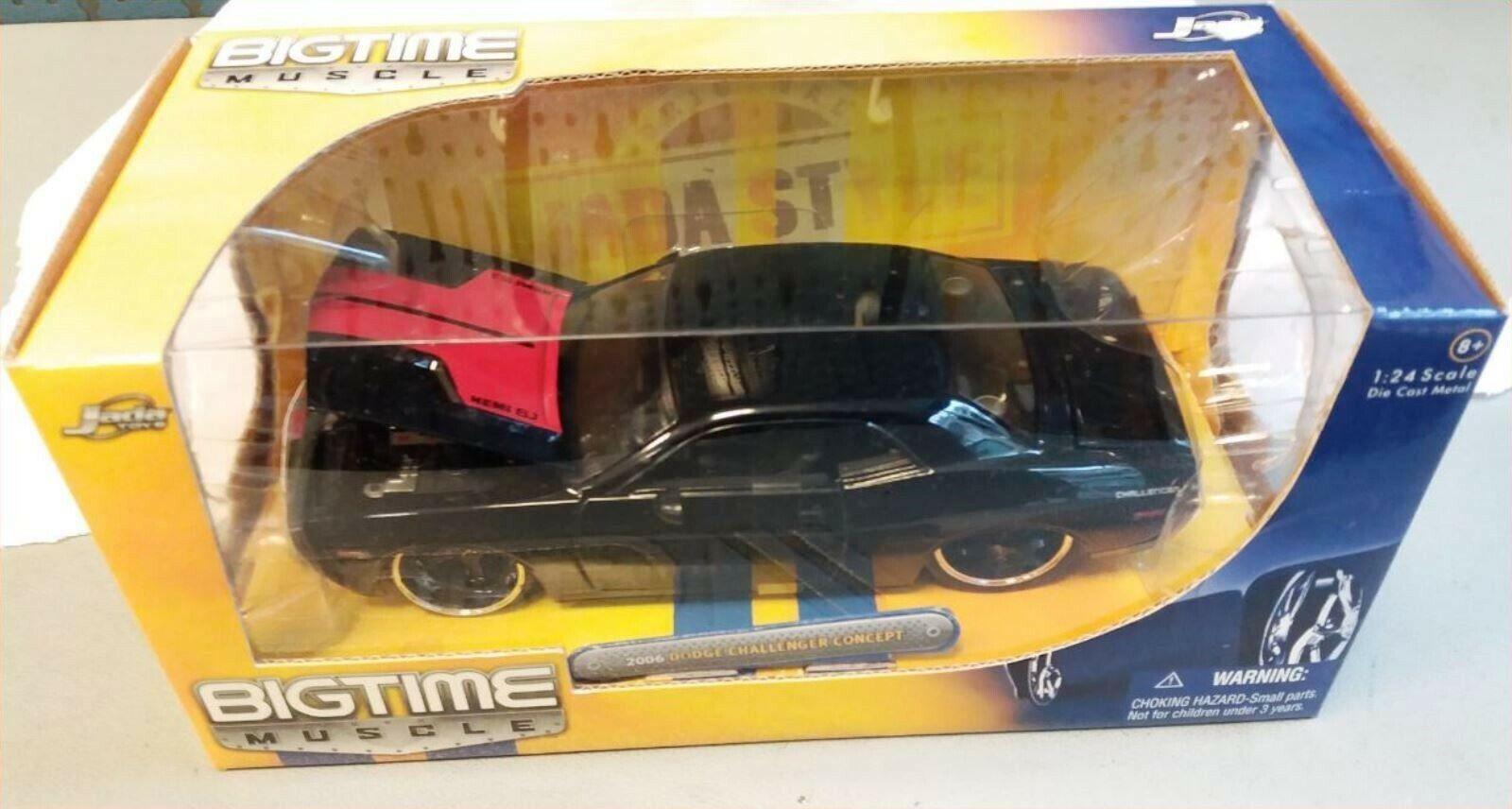 Wow  extrêmeHommest rare Dodge Challenger 6.1 Hemi 2006 NOIR TUNING BMT 1 24 Jada  avec 60% de réduction