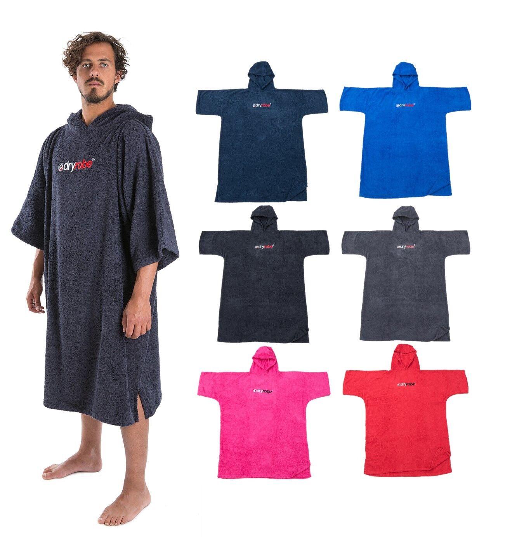 Dryrobe Adult Beach Towel Change Robe - Short Sleeve Towelling Changing Poncho