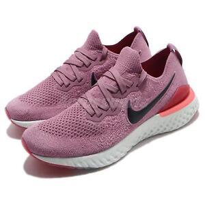 f8fab57b7 Nike Wmns Epic React Flyknit 2 II Plum Dust Black Women Running ...