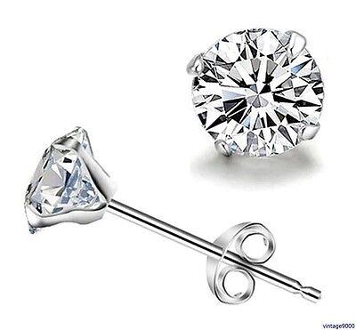 067 Neu Damen Ohrringe Ohrstecker 925 Silber Plattiert Zirkonia Kristall