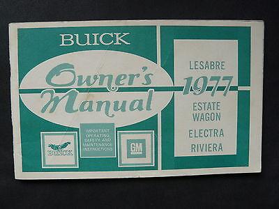 AnpassungsfäHig Buick Lesabre Estate Wagon Us-betriebsanleitung / Operation Manual 1977 Starker Widerstand Gegen Hitze Und Starkes Tragen