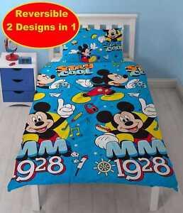 Disney-Mickey-Mouse-Ninos-Childrens-Conjunto-de-Ropa-de-Cama-Edredon-Cubierta-Funda-De-Almohada-Cama