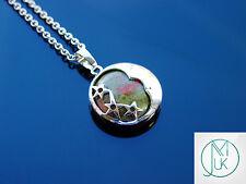 Unakite Luna Collar Colgante de piedras preciosas naturales 50cm Piedra de Curación Chakra