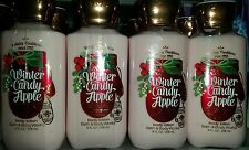 4 BATH AND BODY WORKS WINTER CANDY APPLE BODY LOTION HOLIDAY TRADITION 8 OZ EACH