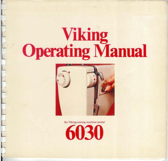 husqvarna viking 6030 sewing machine manual
