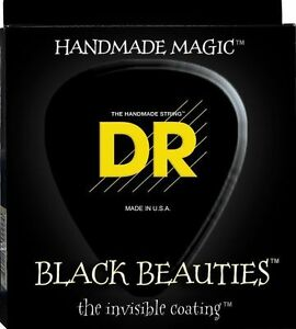 DR-BKB5-45-Black-Beauties-Coated-BASS-Guitar-Strings-45-125-5-string-gauge