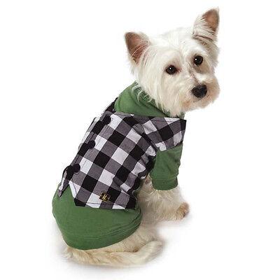 M. Isaac Mizrahi Gingham Mock Dog Vest T-Shirt Top Tee Pet Clothing