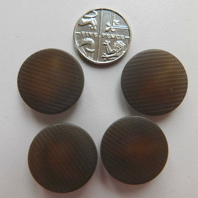 4 vintage patterned uniform buttons 3/4 inch (19 mm) Salvation Army circa 1940s