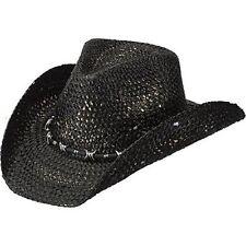 Peter Grimm Sambora Pgd5012 Black Distressed Straw Western Hat Pgd5012-blk