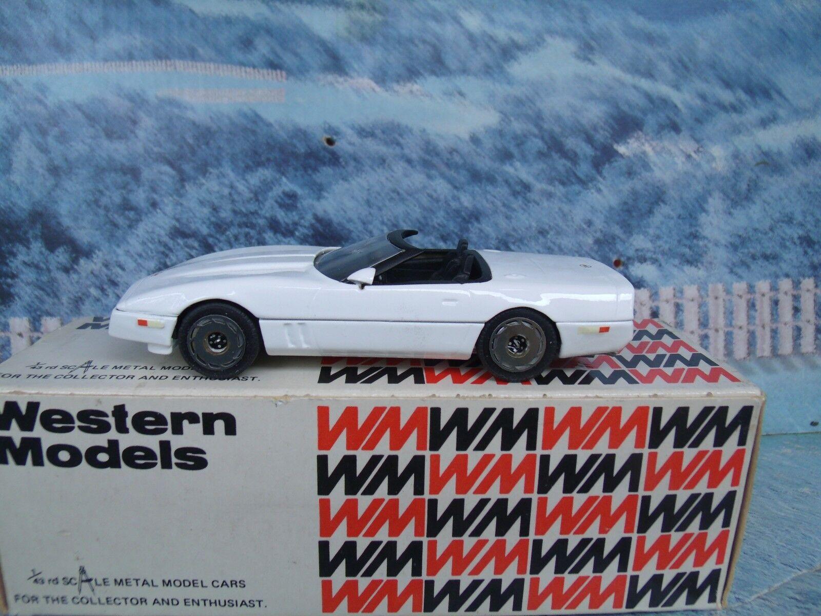 1 43 Western models  Chevrolet corvette 1983 WP 108