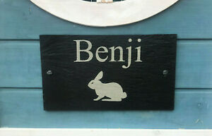 Personalised-Engraved-Large-Slate-Plaque-Pet-Name-Cage-Hutch-Sign-For-a-Rabbit