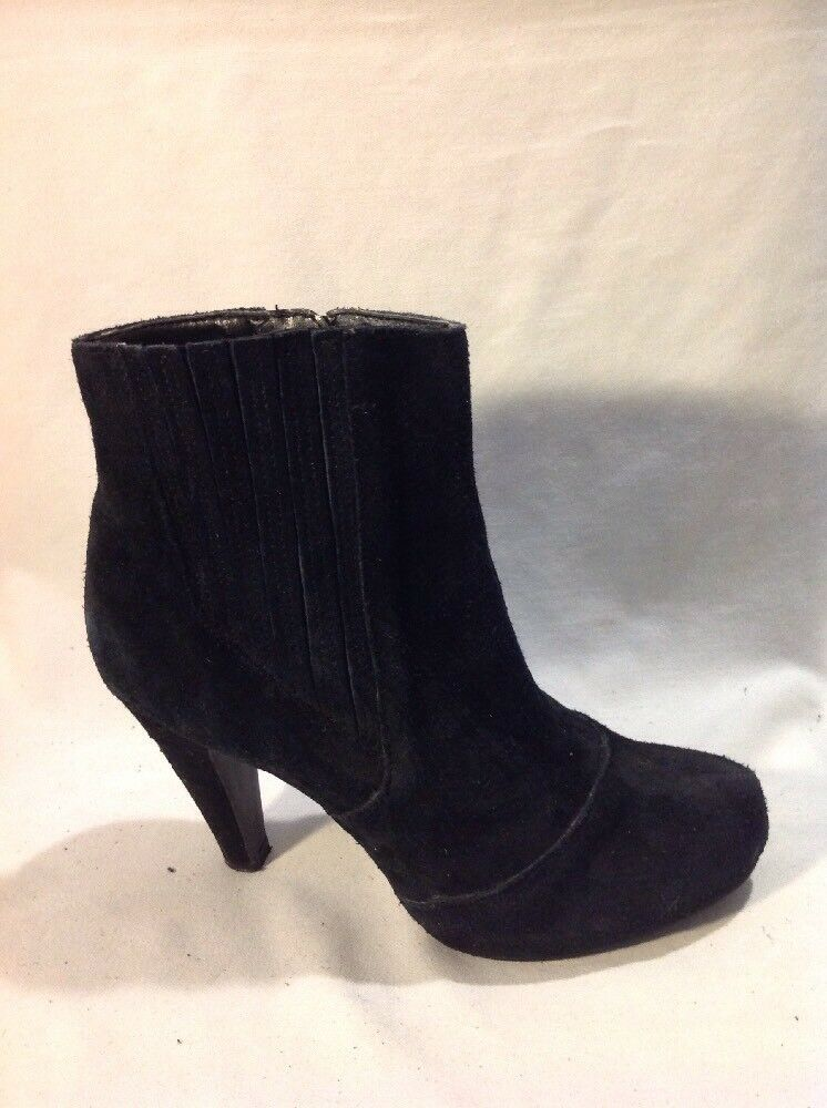 New Look Black Ankle Suede Boots Size 4