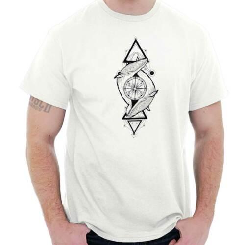 Spiritual Animal Nautical Graphic Symbolic Short Sleeve T-Shirt Tees Tshirts
