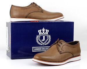 Mens Casual Lace Up Comfort Shoes Smart Office Fashion Plain Italian Design UK