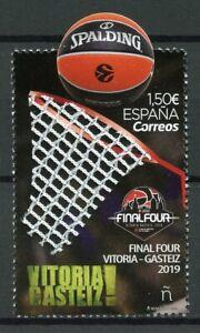 Spain-2019-MNH-Euroleague-Basketball-Final-Four-Vitoria-Gasteiz-1v-Set-Stamps